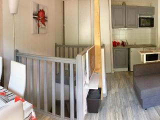 Appartement agréable orienté sud bien équipé face aux pistes